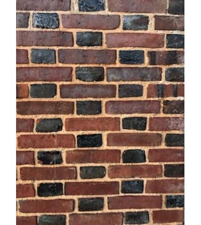 Briques anciennes rouges orangées