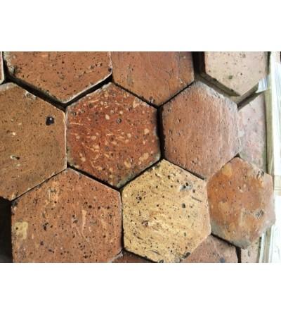 Tomettes hexagonales claires panachées