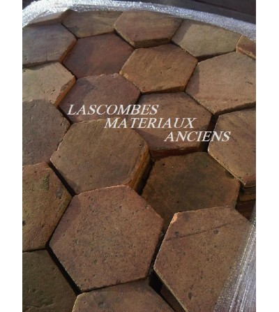 Ancient hexagonal floor-tiles