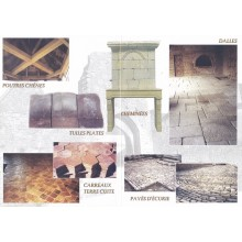 Vente de matériaux anciens, stock important de tomettes anciennes